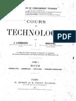 J.lombart - Cours de Technologie T.1 - Bois(4 Pages Manquantes)