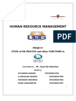 HRM Project of Metro