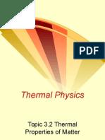 3.2 Thermal Properties of Matter