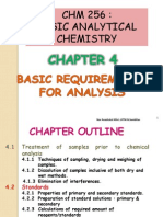Chapter 4 - Basic Requirements for Analysis