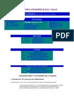 HISTORIA de LA FILOSOFÍA. Tema 5. Descartes, Spinoza y Leibniz