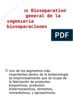 Bioseparacioens Overview A