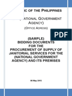 SAMPLE BIDDING DOCUMENTS FOR THE PROCUREMENT OF SUPPLY FOR JANITORIAL SERVICES