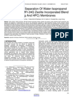Pervaporation Separation of Water Isopropanol Mixture Using Mfi 24q Zeolite Incorporated Blend Naalg and Hpc Membranes
