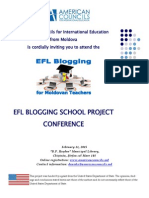 EFL Blogging School Conference Poster