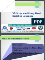 VB Script - A Widely Used Scripting Language