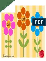 Word Family Flower Garden Short a File Folder Game (1)