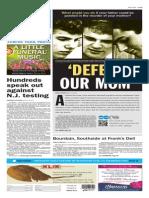 Asbury Park Press front page Friday, Jan. 30 2015