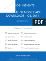 tOP 10  Nations with the highest  number of mobile App downloaded