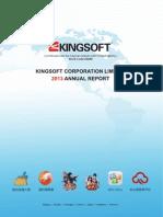 2013 Annual Report Kingsoft