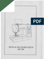 Manual Masina de Cusut Minerva Mc250c