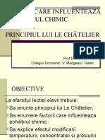 Factori Care Influenteaza Echilibrul Chimic. Principiul Lui