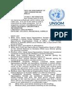 UNCC Humanitarian Brieifing