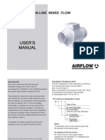 Airflow Aventa in-line mixed flow extractor fans - user manual