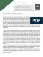 Intertextuality and Misunderstanding 2010 Language and Communication
