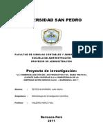 Proyecto de Investigacion de Nutri Service s.a.c.