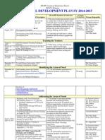saes professional development plan sy 14-15