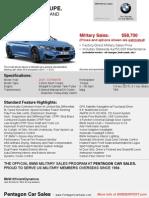 2015 m4 Coupe Estimates