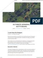 A Note From the Designer — Ultimate General_ Gettysburg