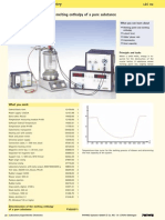 Determination of the melting enthalpy of a pure substance