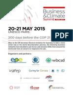 Présentation du Business and climate summit