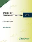 Jack Simpson, Basics of Genealogy Reference