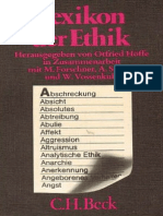 Otfried Höffe, In Zusammenarbeit Mit Maximilian Forschner, Alfred Schöpf, Wilhelm Vossenkuhl Lexikon Der Ethik 1997