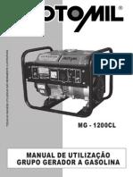 1040640 Manual Gerador MG 1200CL Motomil