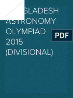 Bangladesh Astronomy Olympiad 2015 (Divisional)