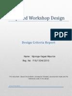 Proposed Workshop Design Criteria