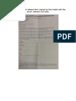 Models Release Form