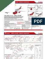 Virgin Atlantic Airways paper model
