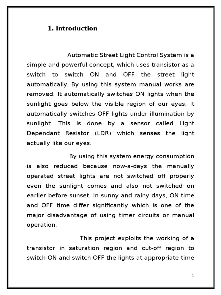 Fancy How Ldr Works In Street Lights Inspiration - Electrical ...