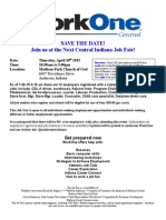 Job Seekers Save the Date Sheet 2015 w WorkOne Logo 1-30-15
