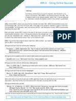 APA Web Rules