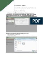 Manual Cargar Archivos de Requisitos de Matrícula