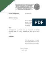 2013 2014 N0005 Ueda FerAndr Implementar Las TICS Con La Aplicacion de Redes Sociales Paara La U.E.D.a. Opt 1