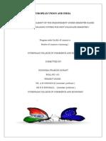 Eropian Union and India