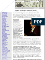 A Biography of Thomas Paine (1737-1809)  Biographies  American History From Revolution To Reconstr