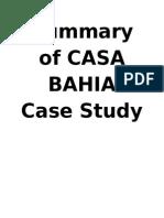 CASAS BAHIA Summary of Case Study