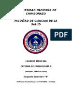 Cuestionario Embriologia IIB
