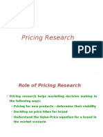 8 Pricing Research