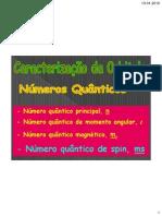 Números quânticos e orbitais