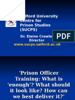 Elaine Crawley - Prison Officer Training