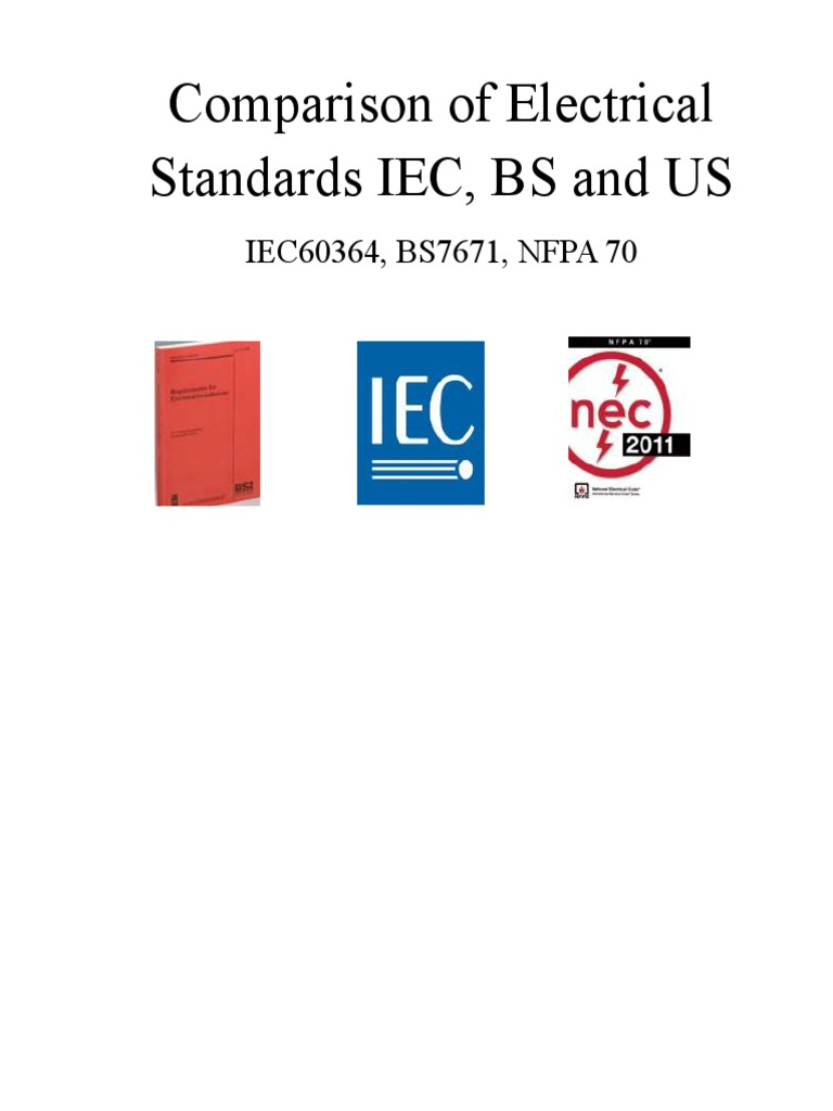 Nec and iec comparision electrical wiring electrical engineering falaconquin