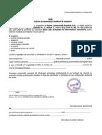 Document de Solicitare a Controlului Medical de Medicina Muncii