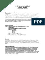 lab skillscourse outline