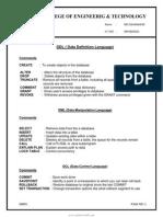 DBMS Lab Manual R09
