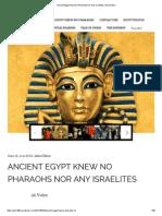 Ancient Egypt Knew No Pharaohs Nor Any Israelites _ Pyramidion