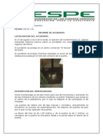 Informe de Accidente